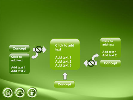 Signs Of Medicine In A Green Colors PowerPoint Template Slide 13