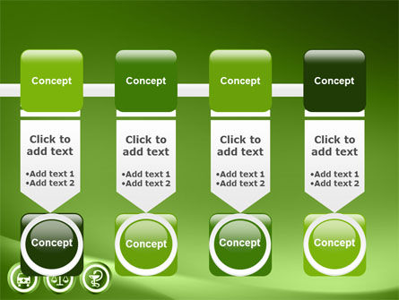Signs Of Medicine In A Green Colors PowerPoint Template Slide 18