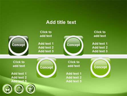 Signs Of Medicine In A Green Colors PowerPoint Template Slide 19