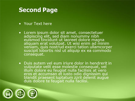 Signs Of Medicine In A Green Colors PowerPoint Template, Slide 2, 03195, Medical — PoweredTemplate.com