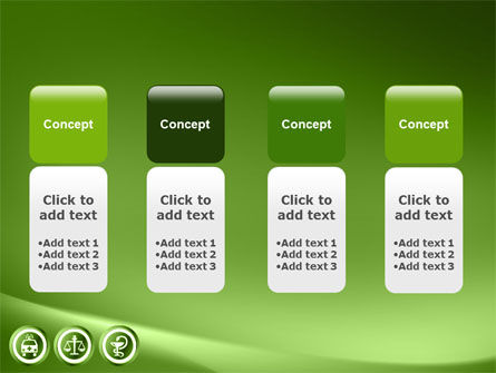 Signs Of Medicine In A Green Colors PowerPoint Template Slide 5