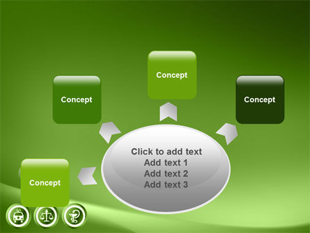 Signs Of Medicine In A Green Colors PowerPoint Template Slide 7
