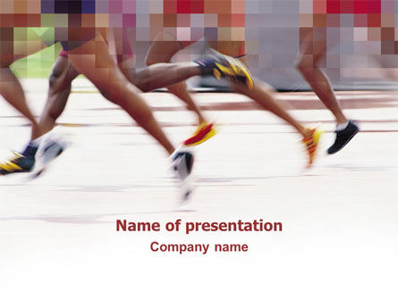 Marathon PowerPoint Template, 03196, Sports — PoweredTemplate.com