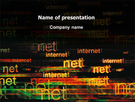 Telecommunication: Internet Virtual Space PowerPoint Template #03197