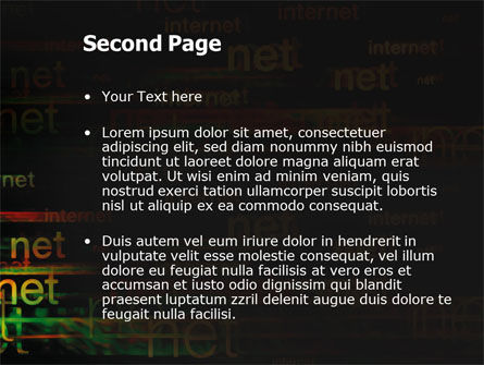 Internet Virtual Space PowerPoint Template, Slide 2, 03197, Telecommunication — PoweredTemplate.com