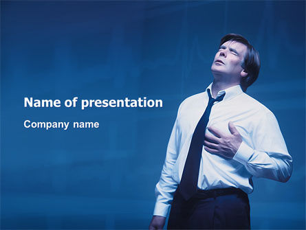 Heart Spasm PowerPoint Template, 03198, Medical — PoweredTemplate.com