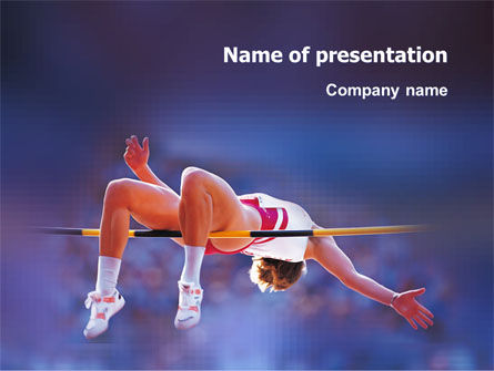 Sports: Jump High PowerPoint Template #03200
