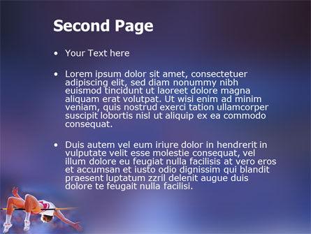 Jump High PowerPoint Template, Slide 2, 03200, Sports — PoweredTemplate.com