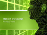 Technology and Science: Artificial Intelligence PowerPoint Template #03201