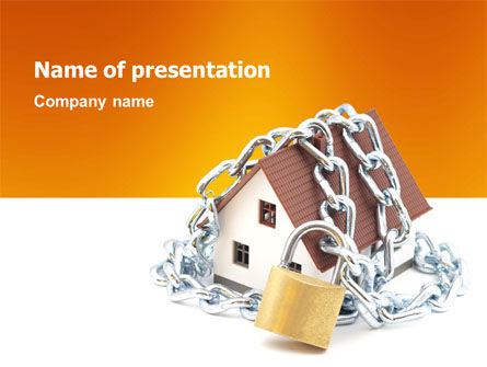 Real Estate: Plantilla de PowerPoint - seguridad de casa #03203