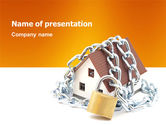 Real Estate: Home Security PowerPoint Template #03203