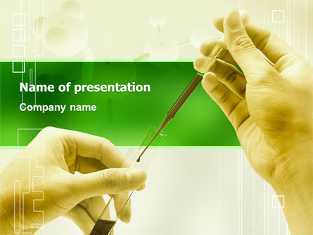 Chemical And Biology Tests PowerPoint Template, 03204, Medical — PoweredTemplate.com