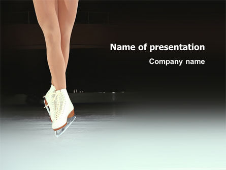 Sports: Dancing On Ice PowerPoint Template #03206
