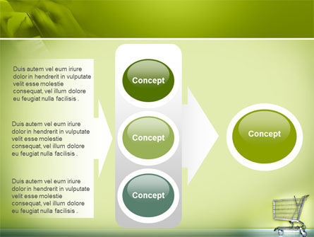 Shopping Cart On Olive Background PowerPoint Template Slide 11