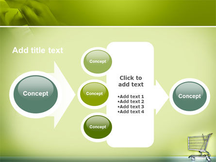 Shopping Cart On Olive Background PowerPoint Template Slide 17