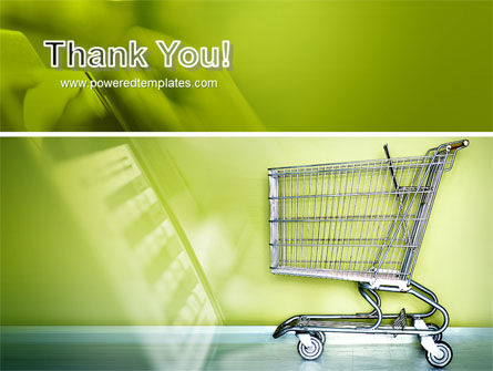 Shopping Cart On Olive Background PowerPoint Template Slide 20