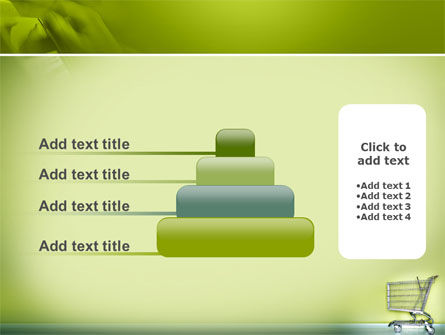 Shopping Cart On Olive Background PowerPoint Template Slide 8