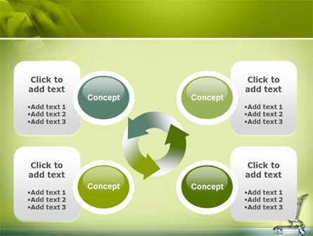Shopping Cart On Olive Background PowerPoint Template Slide 9