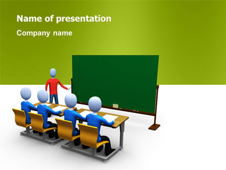 Teaching Class PowerPoint Template, 03209, Education & Training — PoweredTemplate.com