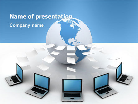 Data Transfer PowerPoint Template, 03211, Computers — PoweredTemplate.com
