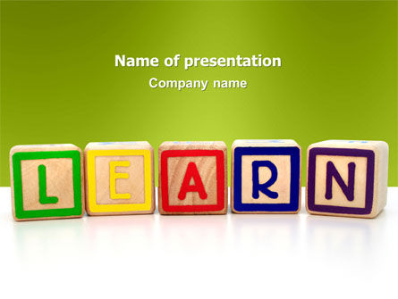 Education & Training: Learning Cubes PowerPoint Template #03216