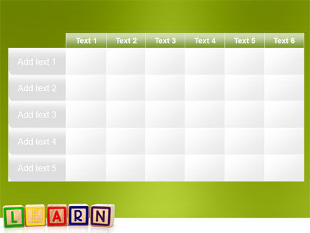 Learning Cubes PowerPoint Template Slide 15