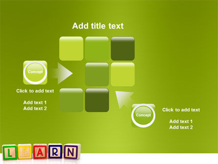 Learning Cubes PowerPoint Template Slide 16