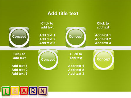 Learning Cubes PowerPoint Template Slide 19