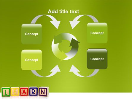 Learning Cubes PowerPoint Template Slide 6