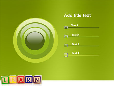 Learning Cubes PowerPoint Template Slide 9