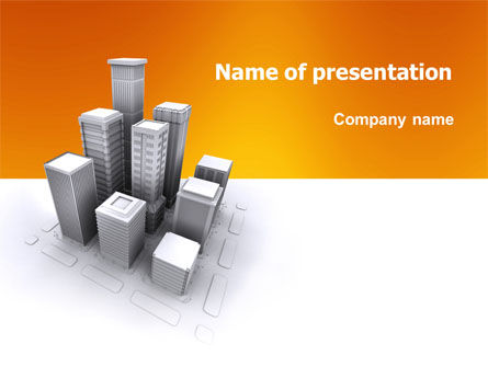 Construction: Downtown PowerPoint Template #03217