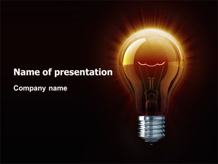 Light Bulb PowerPoint Template, 03218, Business Concepts — PoweredTemplate.com
