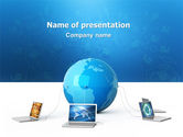 Technology and Science: Global Connection PowerPoint Template #03220
