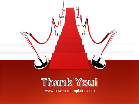 Red Carpet Path PowerPoint Template Slide 20