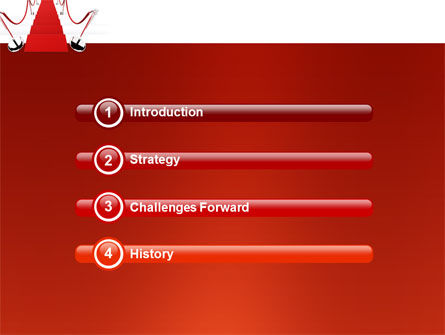 Red Carpet Path PowerPoint Template, Slide 3, 03221, Careers/Industry — PoweredTemplate.com
