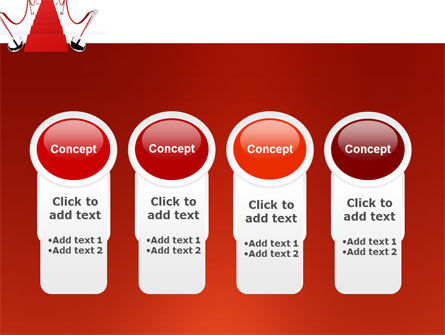 Red Carpet Path PowerPoint Template Slide 5