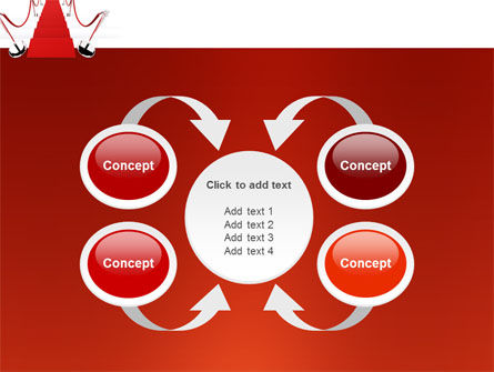 Red Carpet Path PowerPoint Template Slide 6