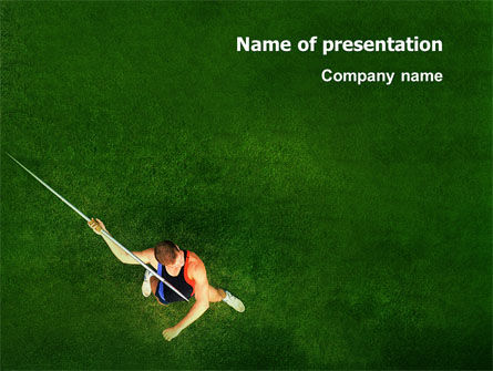 Sports: Spear Thrower PowerPoint Template #03222