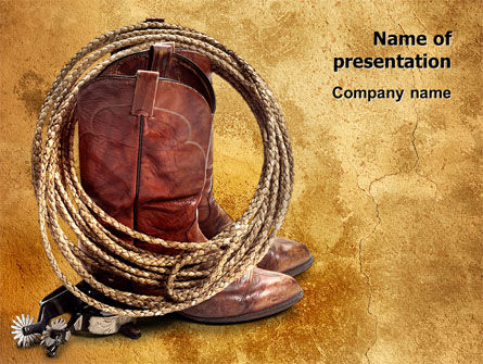 Cowboy Boots PowerPoint Template, 03224, America — PoweredTemplate.com