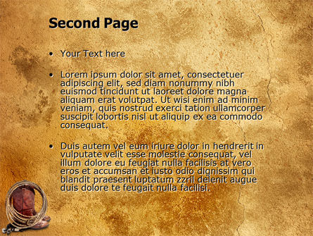 Cowboy Boots PowerPoint Template, Slide 2, 03224, America — PoweredTemplate.com