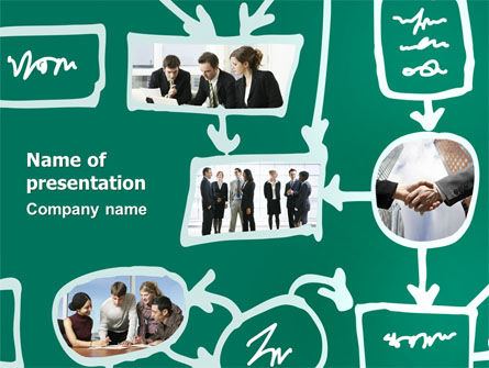 Consulting: Scheme Of Team Work PowerPoint Template #03226