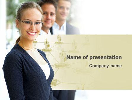 Business Teamwork PowerPoint Template, 03228, Careers/Industry — PoweredTemplate.com