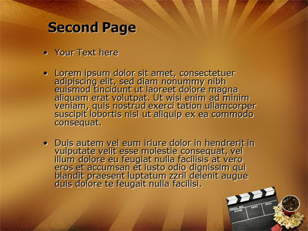 Films and Cinema PowerPoint Template Slide 2