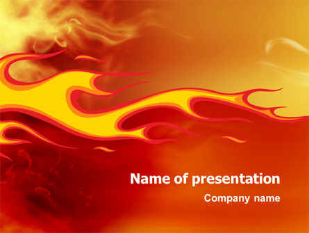 Abstract/Textures: Fire Flame PowerPoint Template #03234