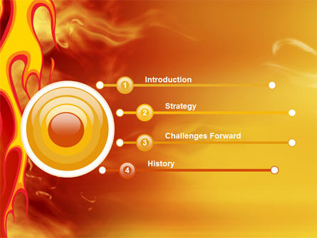 Fire Flame PowerPoint Template Slide 3