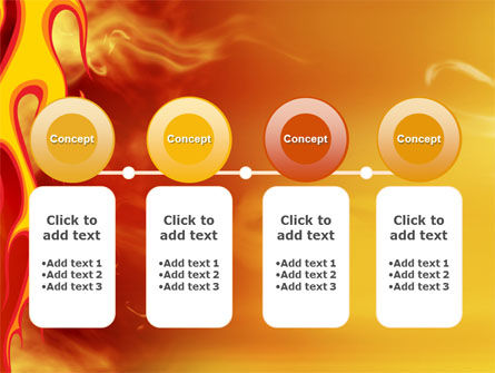 Fire Flame PowerPoint Template Slide 5