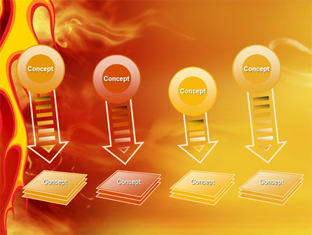 Fire Flame PowerPoint Template Slide 8