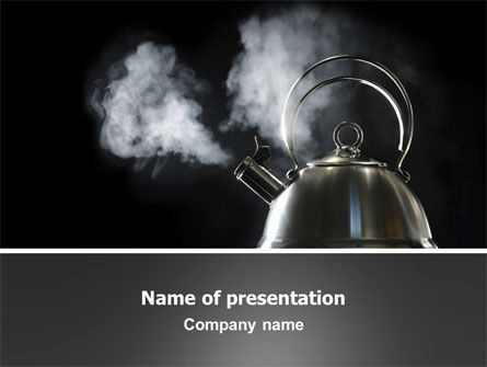 Business Concepts: Boiling Kettle PowerPoint Template #03235