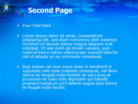 Key Of Blue Door PowerPoint Template, Slide 2, 03237, Technology and Science — PoweredTemplate.com