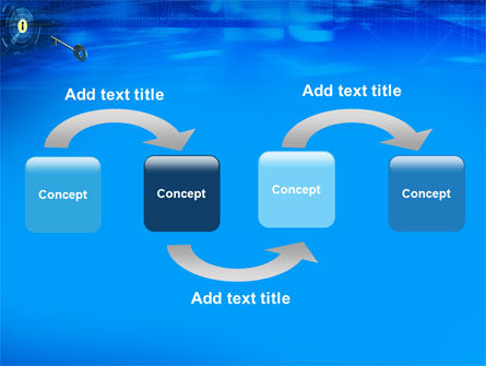 Key Of Blue Door PowerPoint Template Slide 4